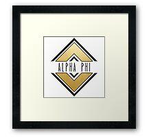 Alpha Phi Framed Print