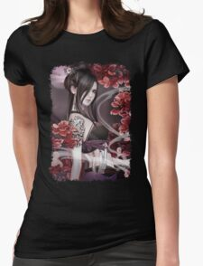 Mysterious Girl Womens Fitted T-Shirt