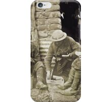 Canadian Soldiers and Trenches WWI iPhone Case/Skin
