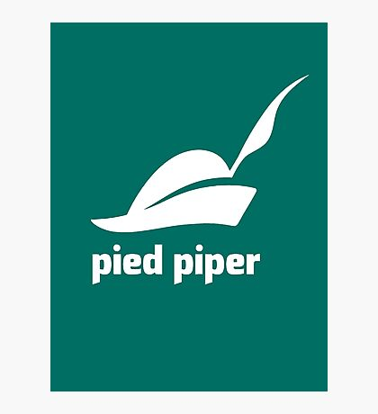 Pied Piper 3.0 Logo - Silicon Valley - New Logo - Season 3 Photographic Print