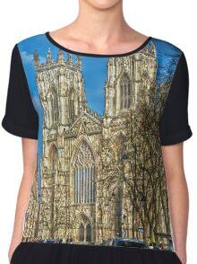 York Minster, England (HDR) Chiffon Top