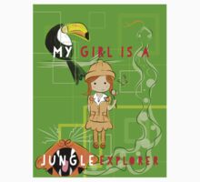 Kids jungle explorer - girls rule! One Piece - Long Sleeve