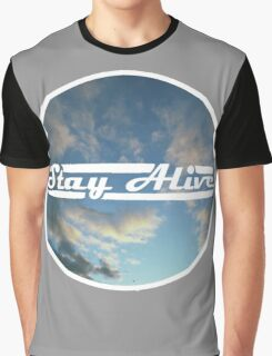 Stay Alive - Clouds Graphic T-Shirt