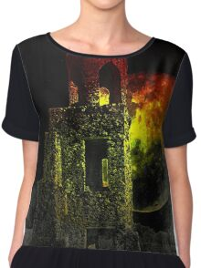 The Ruins Of Blarney Castle Ireland Chiffon Top