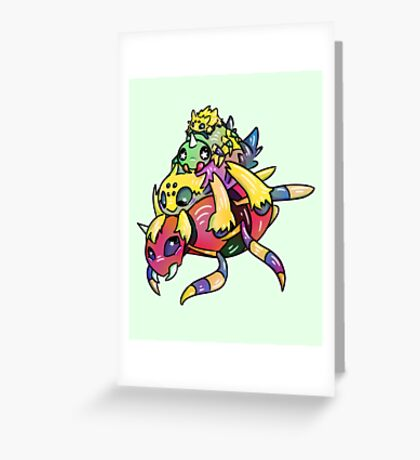 Spider Stack Greeting Card