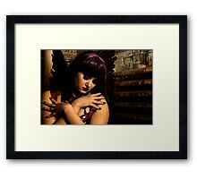 Come In The Dark With Me Framed Print