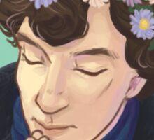 FlowerCrownSherlock Sticker