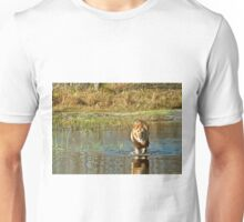 Lion crossing river Unisex T-Shirt