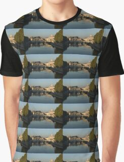 Rome - Iconic View of Saint Peter's Basilica Reflecting in Tiber River Graphic T-Shirt
