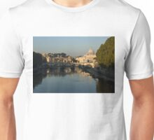 Rome - Iconic View of Saint Peter's Basilica Reflecting in Tiber River Unisex T-Shirt