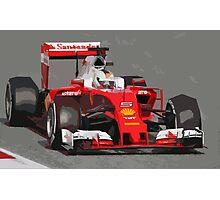 Ferrari F1 2016 Vettel's car Photographic Print