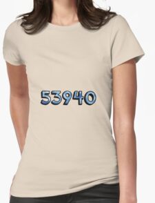 camp chi zip code Womens Fitted T-Shirt
