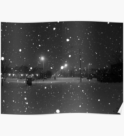 Snowy Night Poster