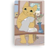 IS THAT CAT A WRITER? Canvas Print