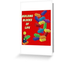 Building Blocks of Life - Legos Greeting Card