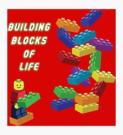 Building Blocks of Life - Legos Photographic Print