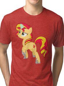 Sunset Shimmer (design) Tri-blend T-Shirt