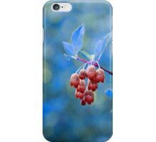 Red Bells on Blue iPhone Case/Skin