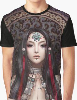 Lotus Meditating Graphic T-Shirt