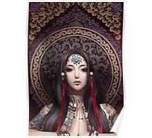 Lotus Meditating Poster