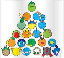 Pokemon Starter Pyramid Poster