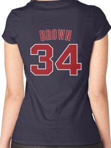 Brown 34 Women's Fitted Scoop T-Shirt