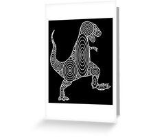 Tyrannosaurus Circles Greeting Card
