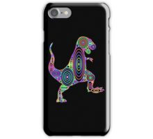 Colorful Tyrannosaurus Circles iPhone Case/Skin