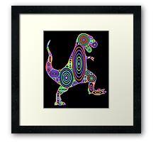 Colorful Tyrannosaurus Circles Framed Print