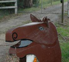 Horse Head Letterbox, Victoria, Australia Sticker