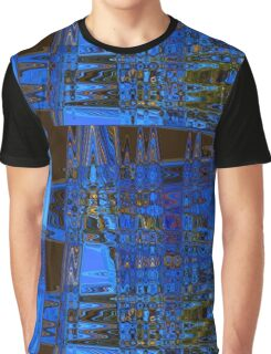Blue Roadblock Graphic T-Shirt