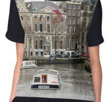 Amsterdam Canal Chiffon Top