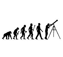 Funny Evolution of Astronomy Photographic Print