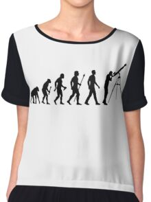 Funny Evolution of Astronomy Chiffon Top