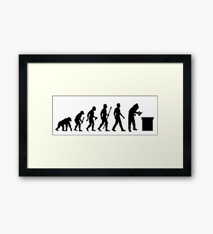 Funny Beekeeping Evolution Framed Print