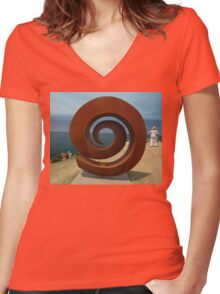 Spiral @ Sculptures By The Sea, 2011 Women's Fitted V-Neck T-Shirt