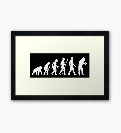 Funny Evolution of Beekeeper Framed Print
