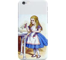 Alice and the Drink Me Potion iPhone Case/Skin