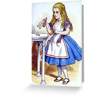 Alice and the Drink Me Potion Greeting Card