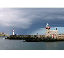 Lighthouse at Howth harbour. Photographic Print