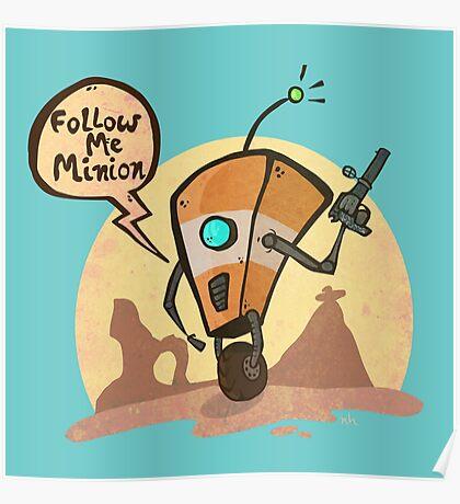 Follow me minion Poster