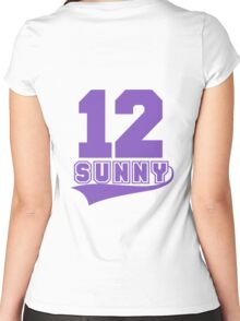 Sunny - 12 Women's Fitted Scoop T-Shirt