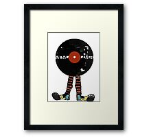 Funny Vinyl Records Lover - Grunge Vinyl Record Framed Print