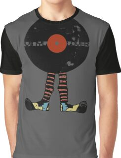 Funny Vinyl Records Lover - Grunge Vinyl Record Graphic T-Shirt
