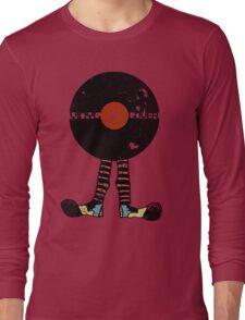 Funny Vinyl Records Lover - Grunge Vinyl Record Long Sleeve T-Shirt