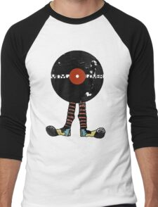 Funny Vinyl Records Lover - Grunge Vinyl Record Men's Baseball ¾ T-Shirt