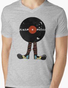 Funny Vinyl Records Lover - Grunge Vinyl Record Notebooks and more Mens V-Neck T-Shirt