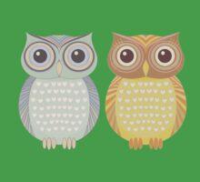 Cool Owl & Friendly Owl One Piece - Short Sleeve