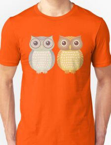 Cool Owl & Friendly Owl Unisex T-Shirt