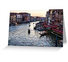 Impressions Of Venice - a Classic View of the Grand Canal Greeting Card